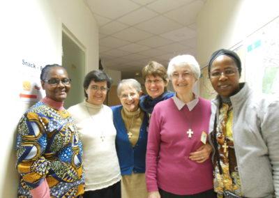 Spiritaines à la Maison-mère, lors des Journées d'Amitié.
